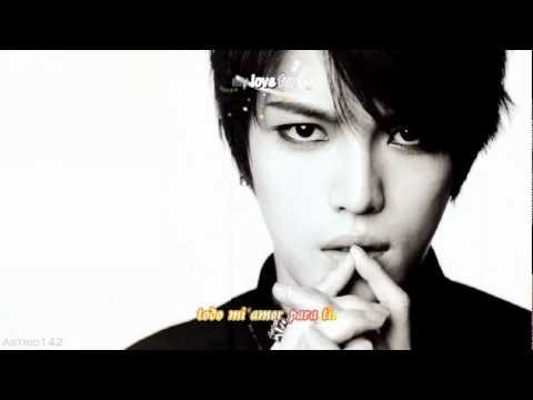 Kim Jaejoong - All Alone [esp + rom + hangul + karaoke]