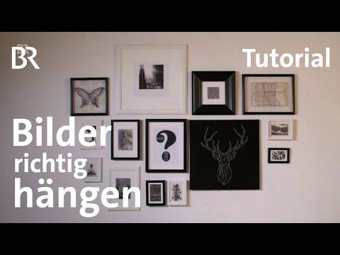 Bevorzugt Tutorial: Bilderrahmen richtig aufhängen   Milberg & Wagner   BR VV54