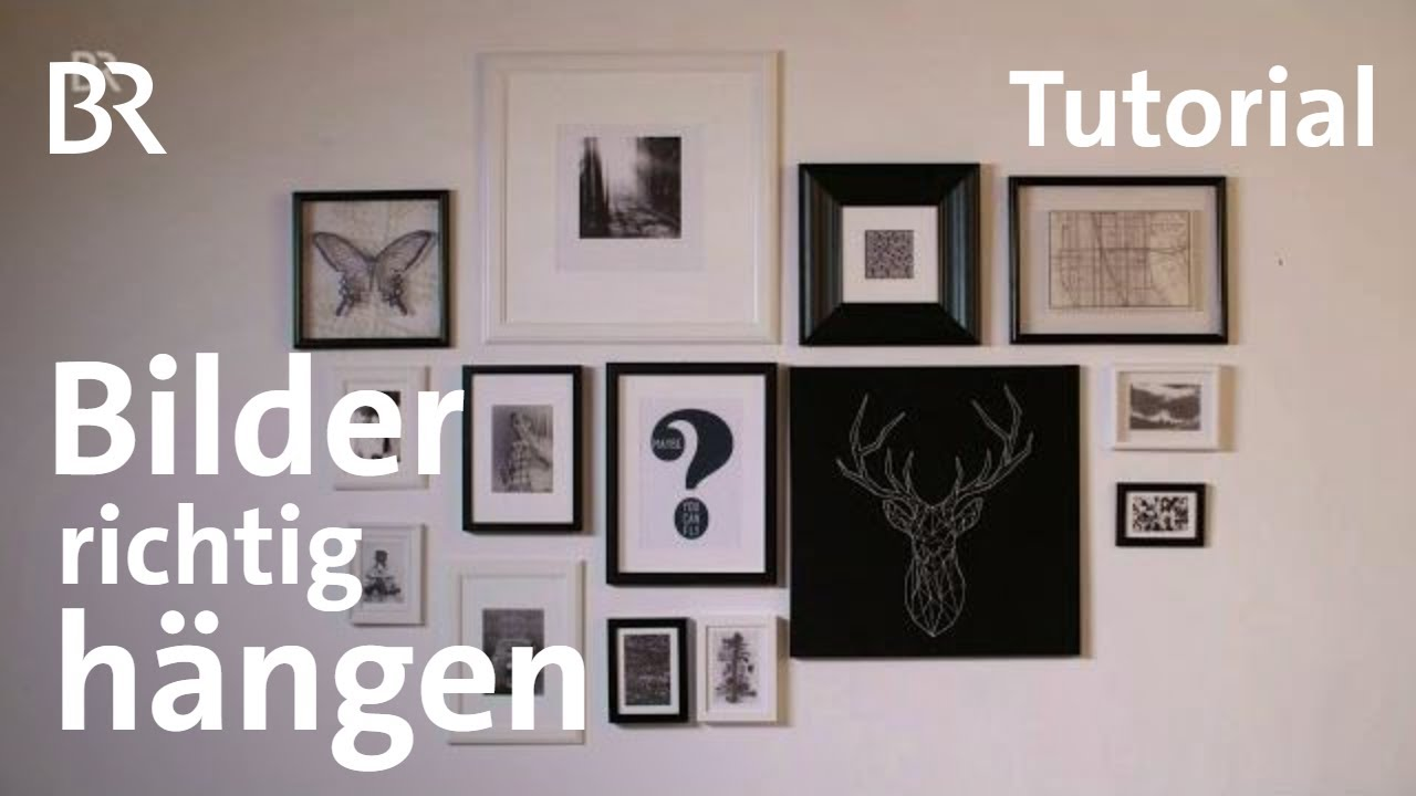 tutorial bilderrahmen richtig aufh ngen milberg wagner br youtube. Black Bedroom Furniture Sets. Home Design Ideas