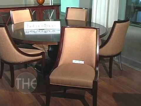 Elegant Dining Set With Round Pedestal Table From Sienna Collection By Brownstone Youtube