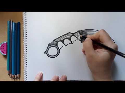 Как нарисовать керамбит Dragon Glass из игры Standoff 2