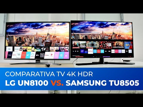 LG UN8100 Samsung TU8505 [COMPARATIVA TV 4K 2020]
