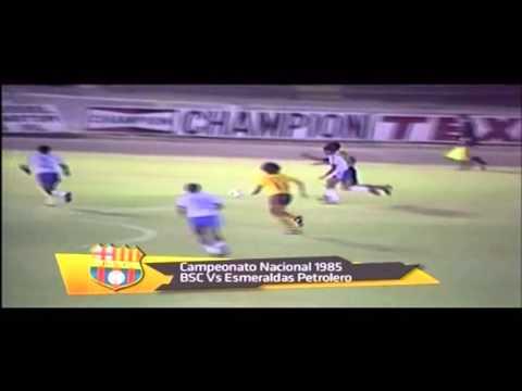 Goles de Barcelona vs Esmeraldas Petrolero - Campeonato Nacional 1985