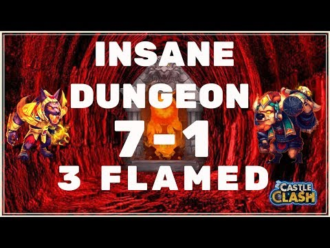 HOW TO 3 FLAME INSANE DUNGEON 7-1 - CASTLE CLASH