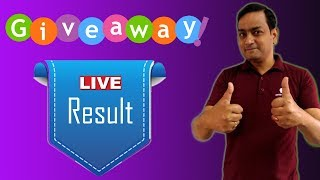 Result of Amazon Gift Card Giveaway 🔴LIVE  First Giveaway on Amlan Talks