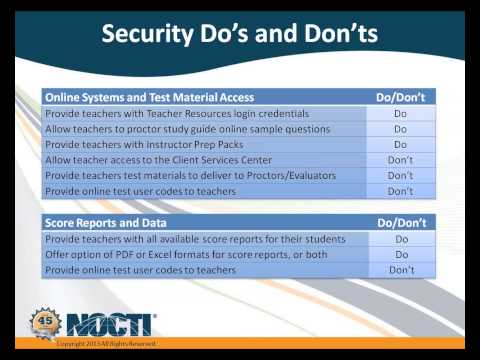 2013 11 13 10 00 NOCTI Testing in Pennsylvania   What Directors Need to Know