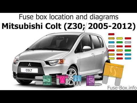 fuse box location and diagrams: mitsubishi colt (z30; 2005-2012) - youtube  youtube