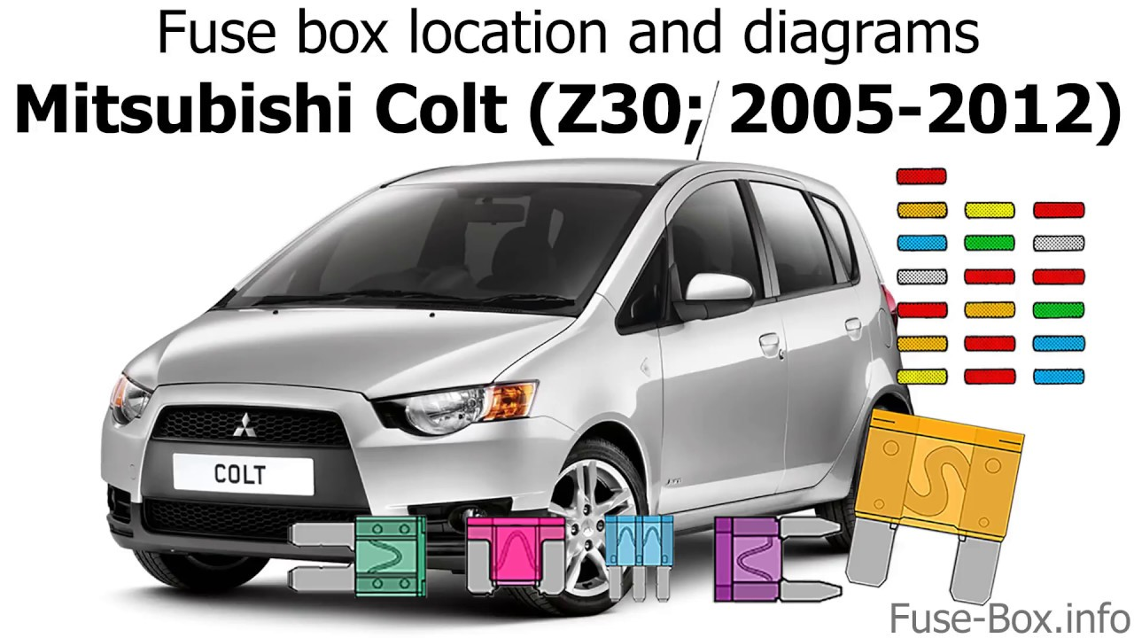 fuse box location and diagrams mitsubishi colt z30 2005 2012 mitsubishi colt fuse box layout colt fuse box [ 1280 x 720 Pixel ]