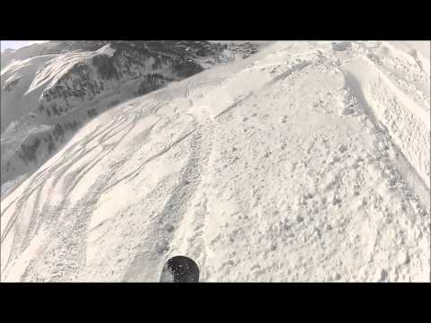 Snowboard Freeride Session in Cervinia, Italy - GoPro