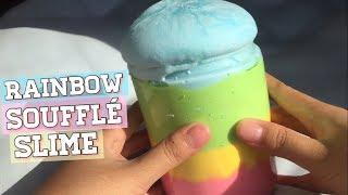 DIY Souffle Slime Rainbow Iceberg! Testing Viral Instagram Slime #1