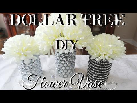DIY DOLLAR TREE BLING FLOWER VASES DECOR | PETALISBLESS🌹