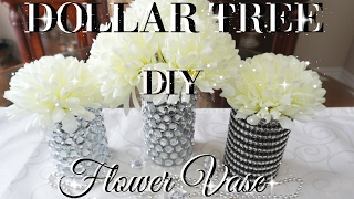 DIY DOLLAR TREE BLING FLOWER VASES DECOR | PETALISBLESS