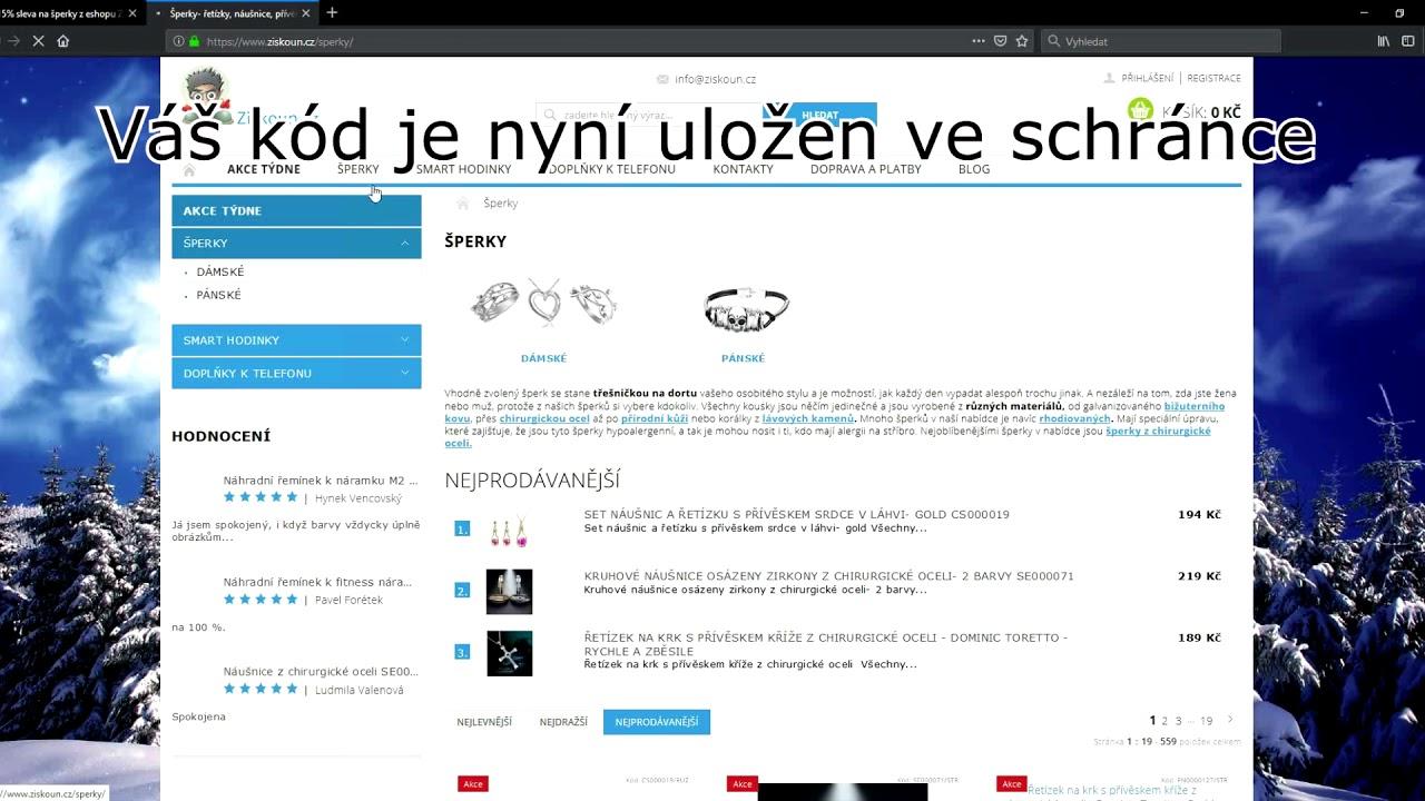 96f7c58e2 Ziskoun.cz slevový kupón - Slevovykupon.net