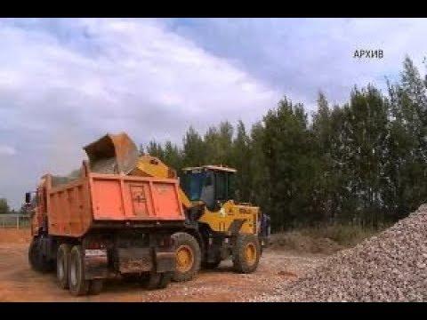 Работы по созданию дорог в деревне Нестерово