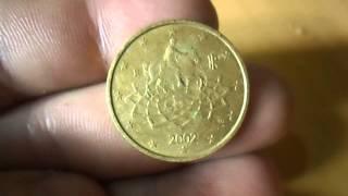 MOEDA DE 50 CÉNTAVOS DE EURO 2002