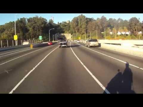 Motor Scooter Ride over Oakland Bay Bridge