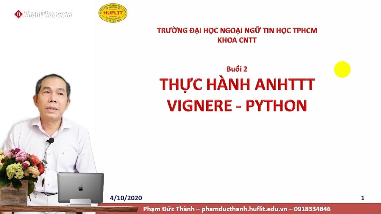 CNTT HUFLIT – Thực hành An ninh Hệ thống Thông tin Vignere ...