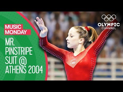 Carly Patterson's gold medal routine to Mr. Pinstripe Suit! | Music Monday