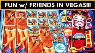 FULL SCREENS, MAX BETS, FUN W/ FRIENDS in VEGAS! Thunderball Slot Machine, Tarzan Grand Slot Machine