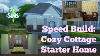 The Sims 4 Speed Build - Cozy Cottage Starter Home