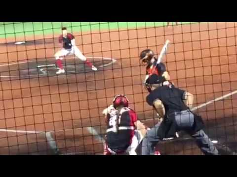 Monica Abbott throws a Nono against the Bandits (her former team) at Bandits Stadium