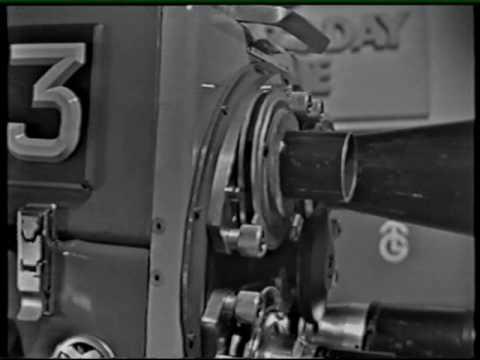 Dicky Howett's 1963 EMI 203 B&W image orthicon TV camera demonstration 1995