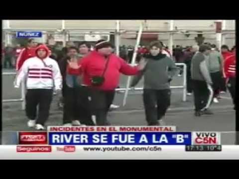 River se va a la b incidentes c5n 1 3 youtube for La b b
