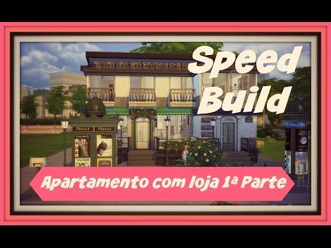 Sims 4 - Speed Build - Apartamento com Loja de Roupa 1ªparte (Apartment with Store)