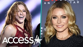 Kelly Ripa Flaunts Six-Pack Abs During Shakira Dance Challenge With Fellow Moms