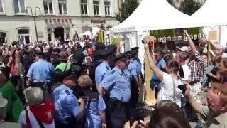 Bundespräsident Gauck in Sebnitz beschimpft