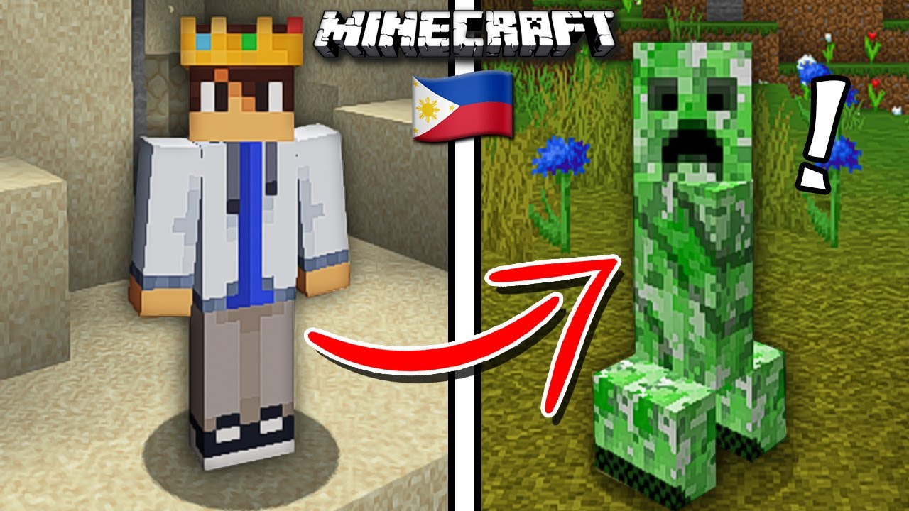 Beating MINECRAFT as a Creeper... (Tagalog)