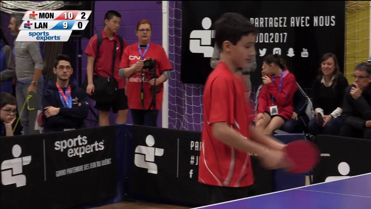 Jeux Du Quebec 2017 03 02 Tennis De Table 1 Youtube