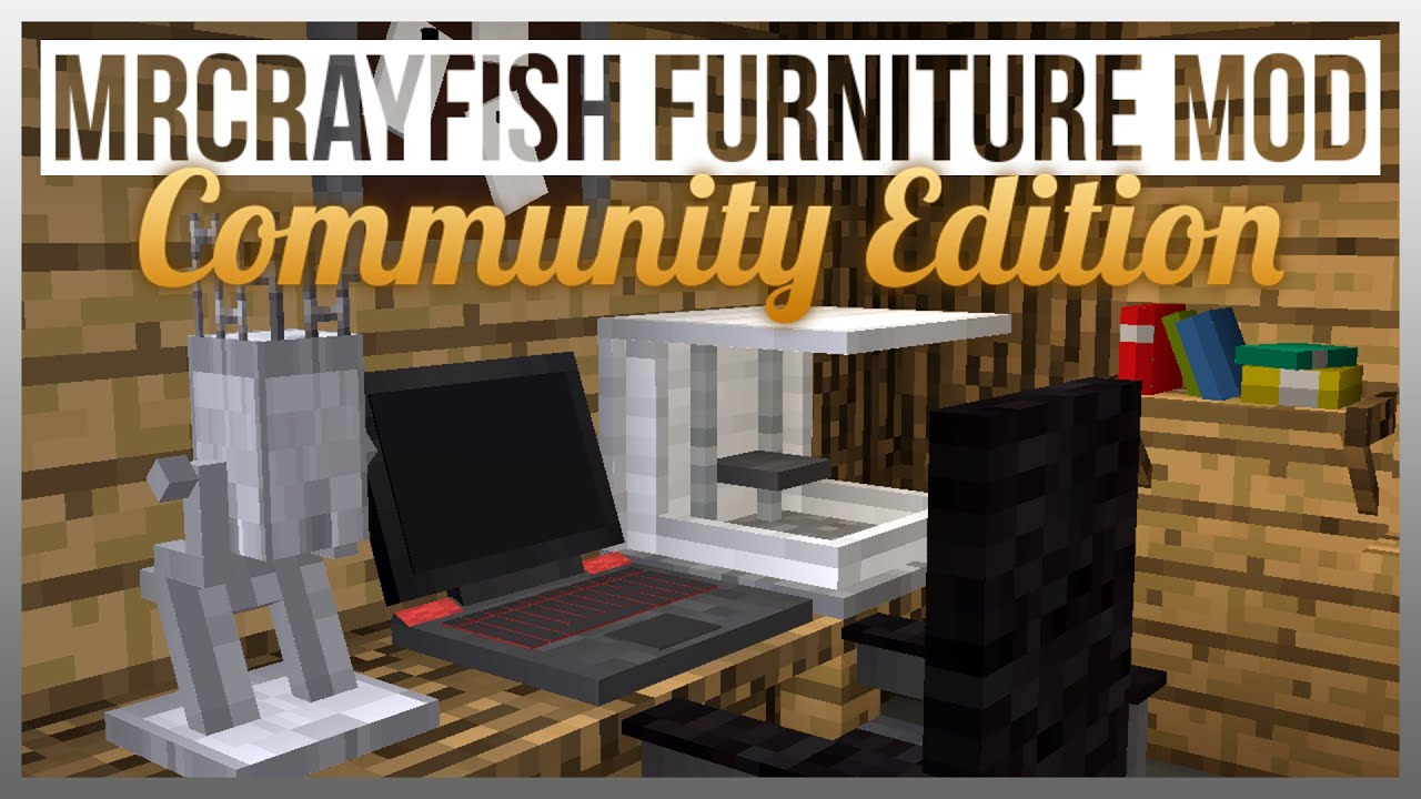 Mrcrayfishfurnituremodv3. 4. 7(1. 7. 10). Jar files mrcrayfish's.