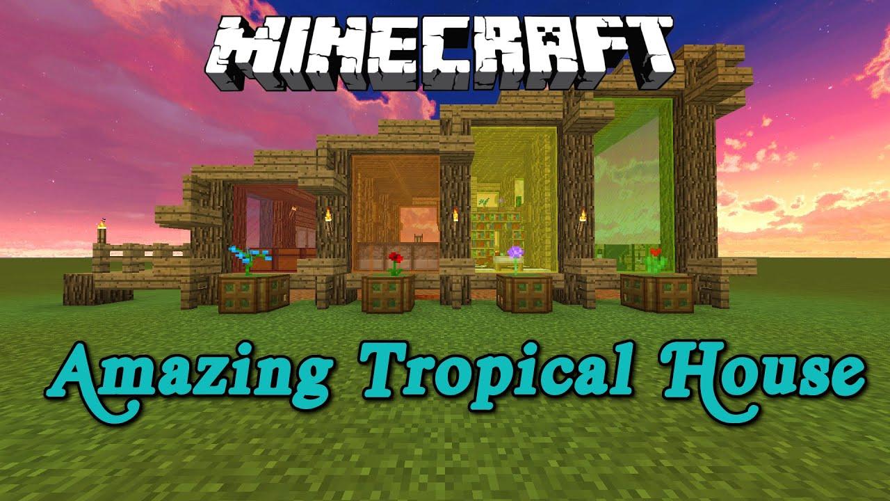 minecraft how to build a beach house
