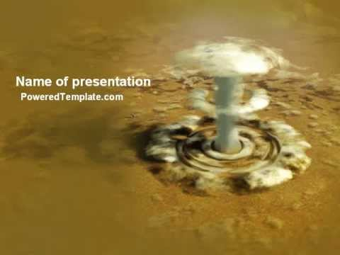 Nuclear explosion powerpoint template by poweredtemplate youtube nuclear explosion powerpoint template by poweredtemplate maxwellsz