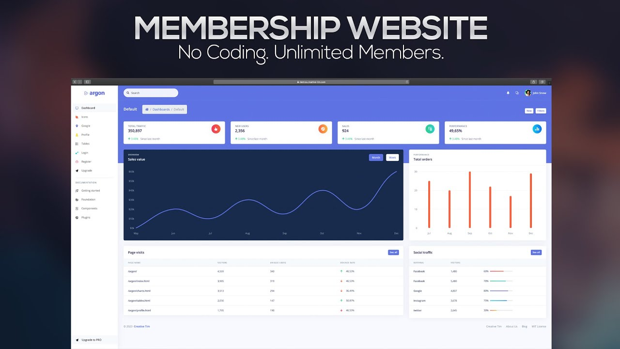 create a membership website with joomla 6 premium template overview youtube. Black Bedroom Furniture Sets. Home Design Ideas