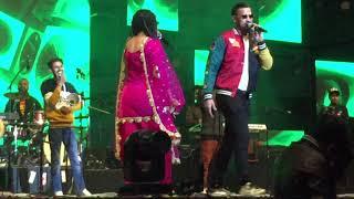 Garry Sandhu and Jasmine sandlas live Jaipur at Gaana  crossblade music festival 2019 JECC live