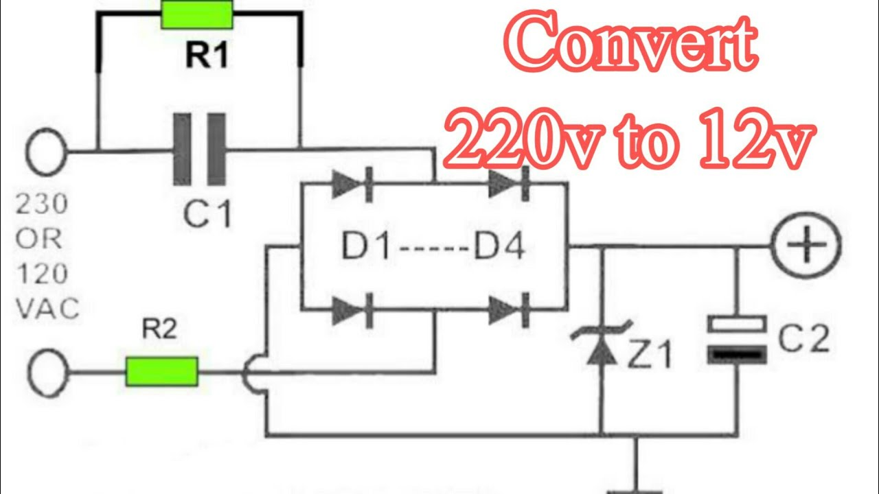 220v Ac To 12v Dc Converter Circuit Diagram 12v