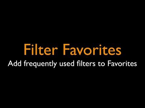 Filter Favorites - PhotoScape X 4.0