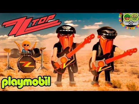 🎸 ZZ TOP PLAYMOBIL Rockstar Custom. Juguetes bandas de ROCK, juegos Pop Stars.