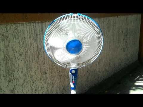 12V DC Solar Pedestal Fan Using Direct Solar Panel In Action Marathi
