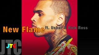 Chris Brown ft. Usher & Rick Ross - New Flame (Lyrics)
