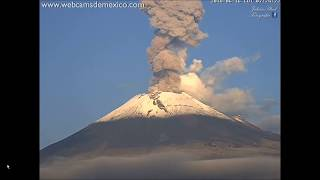 Popocatepetyl Volcano Erupting/Back to Back Eruptions