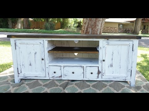 Furniture Makeover: Entertainment Center Farm style build