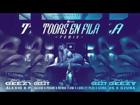 Ozuna   Todas En Fila Remix  Ft Bad Bunny, Nengo Flow, Luigi 21 Plus, De La Ghetto, Alexio, Pusho