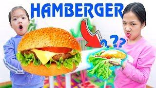 Cách Làm Hamburger Khổng Lồ ❤ Bánh Mỳ Hotdog Siêu To - Trang Vlog