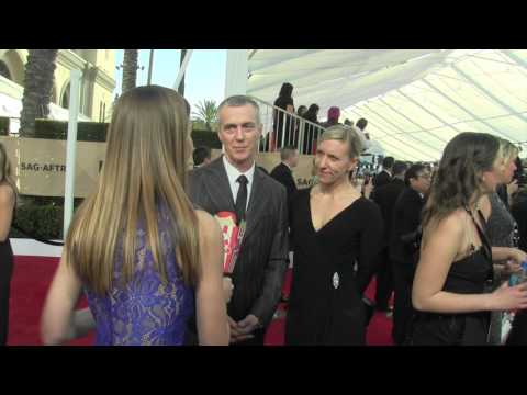 Mark Steger I SAG Awards 2017 I with Popcorn Talk Network host J J  Jurgens