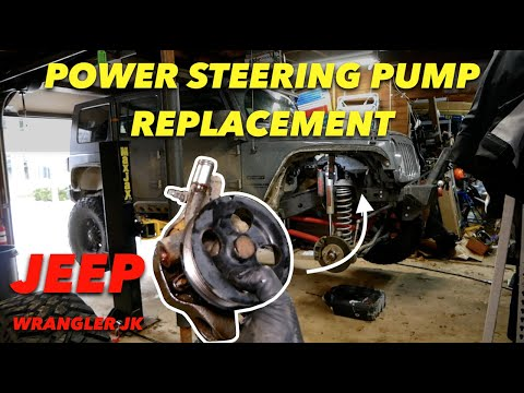 HOW TO REPLACE Jeep POWER STEERING PUMP // Jeep Wrangler JK 3.6L