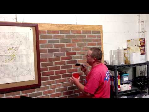 Masonry Cosmetics- How to Apply Stain to Brick(practicing with water)