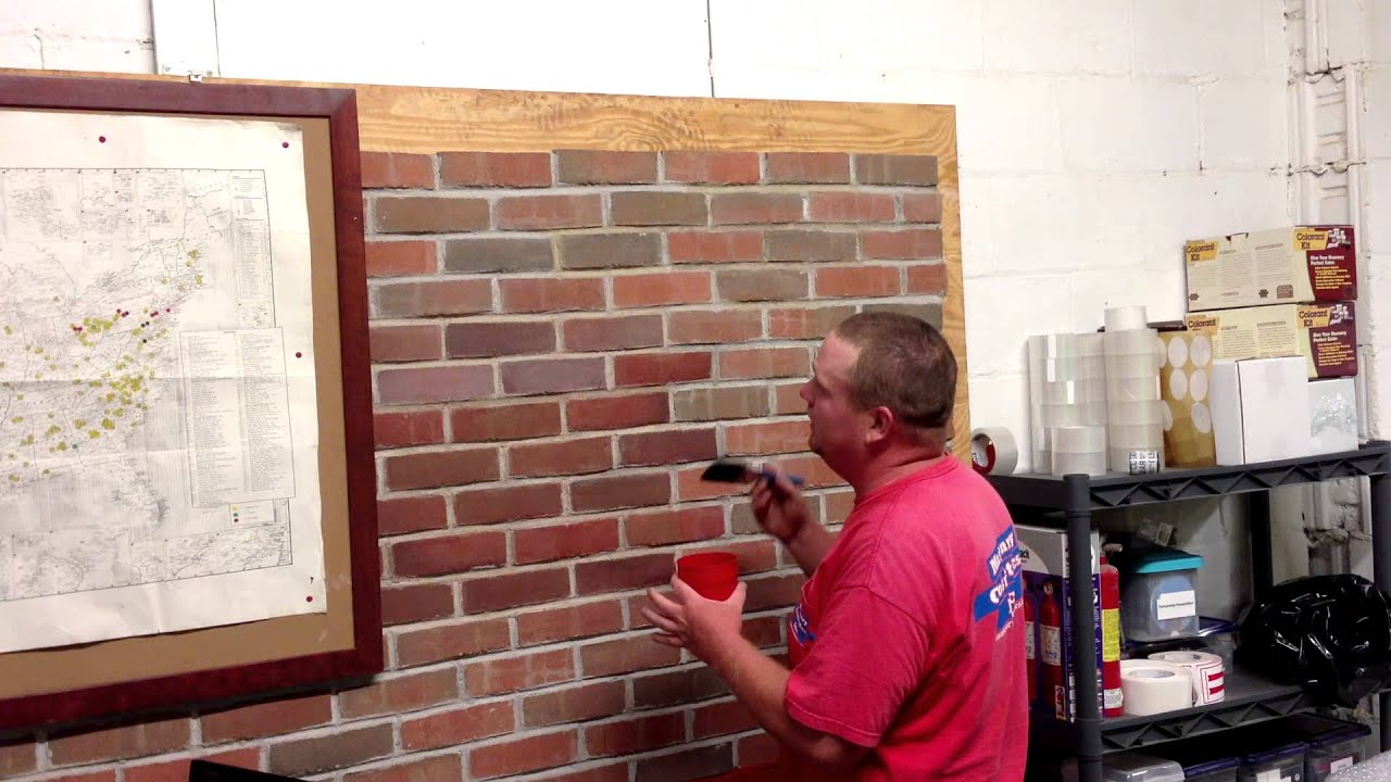 Wonderful Sealing Brick Fireplace Part   5: Masonry Cosmetics  How To Apply  Stain To